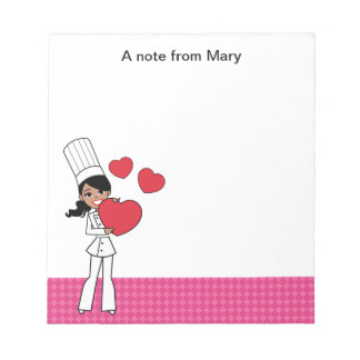 Lovely African American Girl Notepad