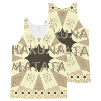Lovely African Hakuna Matata Print Design All-Over-Print Tank Top