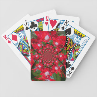 Lovely Alien Crimson Bicycle Playing Cards