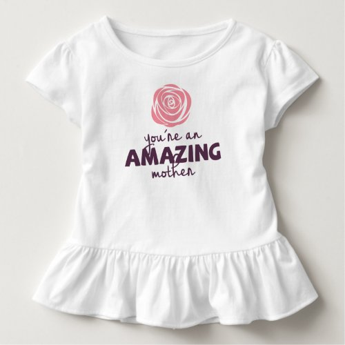 Lovely Amazing Mother Mothers Day  Ruffle Tee