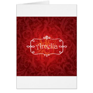 lovely Amelia name designs Card