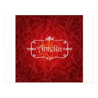 lovely Amelia name designs Postcard
