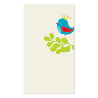 lovely and cute bird business card template 2rd