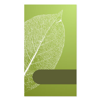 lovely and cute green leaf style business card tem