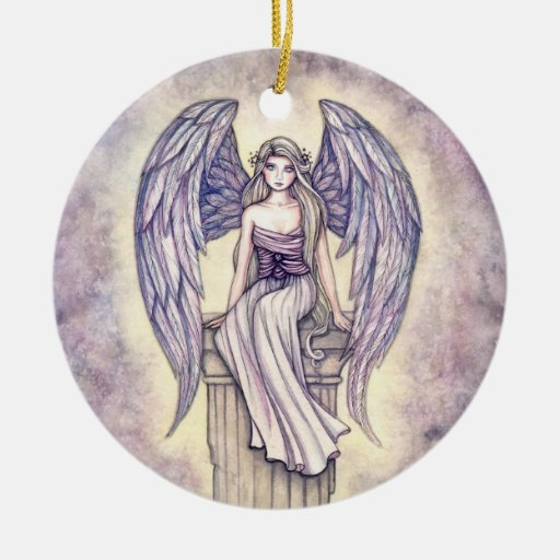 Lovely Angel Ornament by Molly Harrison