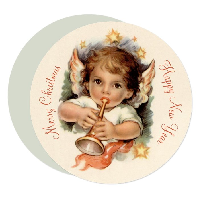 Lovely angel with trumpet CC1034 Christmas card