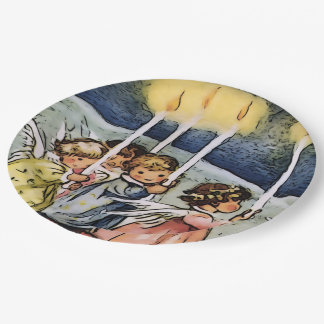 lovely angels paper plate