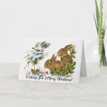 Lovely Animal Christmas Card