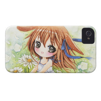 Lovely anime girl with daisy iPhone 4 Case-Mate case