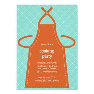 Lovely Apron Summer Party/Cooking Party Invitation