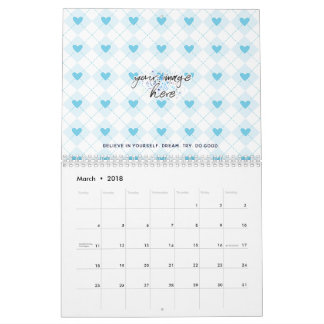 Lovely Argyle Calendar