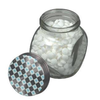 Lovely Argyle Jelly Belly Candy Jar
