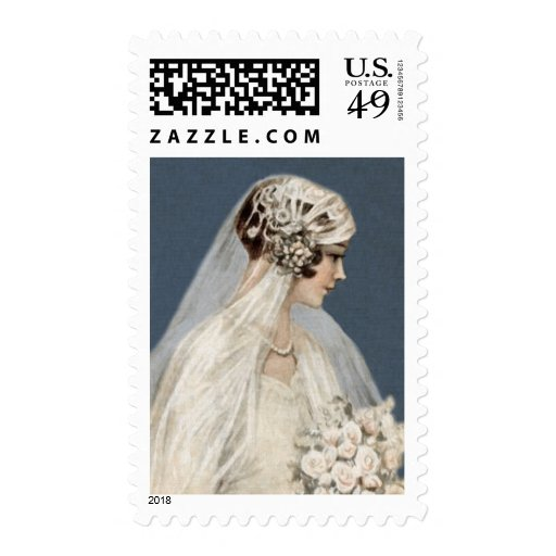 Lovely Art Deco Bride Stamps