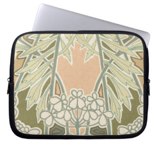 lovely art nouveau nature design computer sleeve