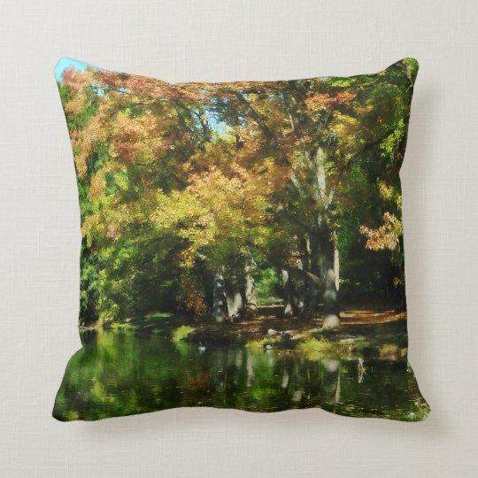 Lovely Autumn Reflection Throw Pillow