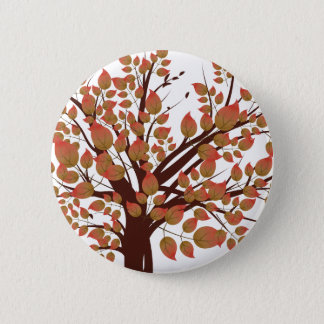 Lovely Autumn Tree Button