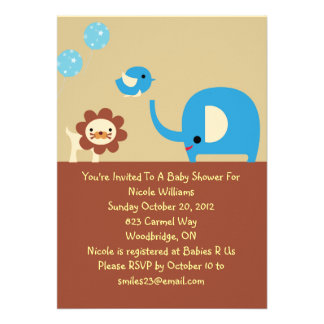 Lovely Baby Boy Shower Personalized Invitation
