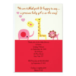 """Lovely Baby Girl Shower Personalized Invitation 5"""" X 7"""" Invitation Card"""