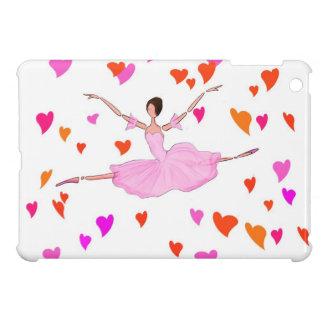 Lovely Ballerina in Pink Colorful Hearts Mini iPad iPad Mini Cases