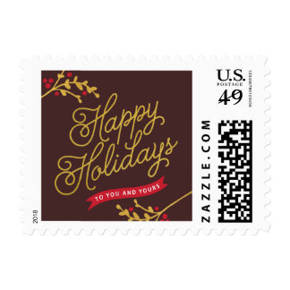 Lovely Banners Holiday Postage