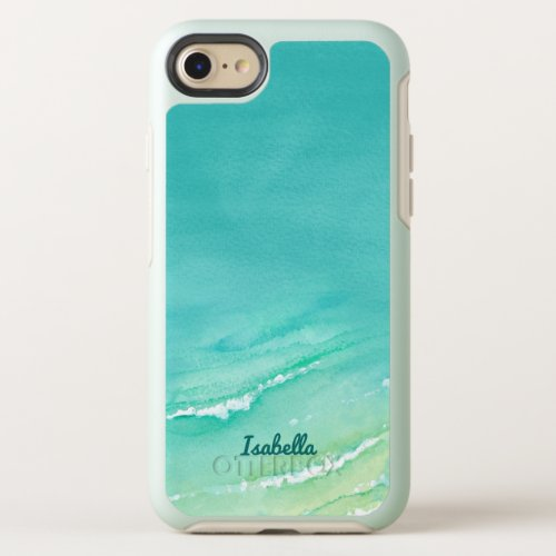 Lovely Beach Aqua Turquoise Watercolor Phone Case