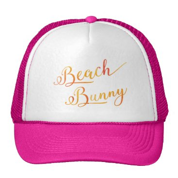 Lovely Beach Bunny Stylized Peach Color Trucker Hat