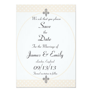 Lovely Beige Polka Dots Save The Date Notice Card
