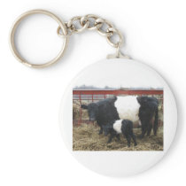 Lovely Beltie Cow and Calf Keychain