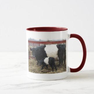 Lovely Beltie Cow and Calf Mug