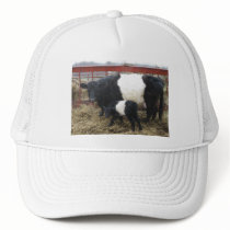 Lovely Beltie Cow and Calf Trucker Hat