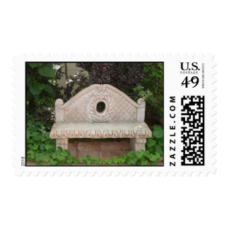 Lovely bench postage stamp