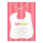 Lovely Bib Baby Shower Invitation Invites