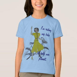 lovely bicycle lady T-Shirt