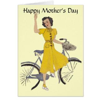 Lovely Bike Lady Card