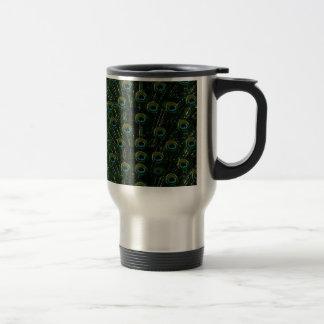 Lovely Black Peacock Travel Mug