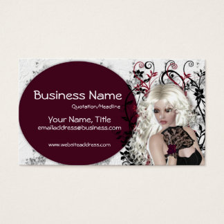 Lovely Blonde Lady  - Fantasy Business Cards
