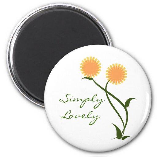 Lovely Blooms Magnet, Orange