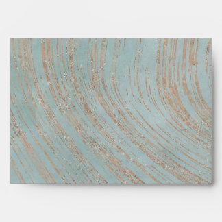 Lovely Blue and Copper Streaks Envelope