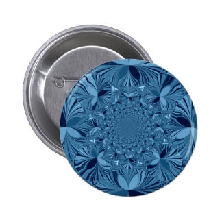Lovely Blue 2 Inch Round Button