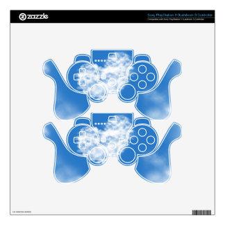 Lovely blue heaven heart shaped sky healing love PS3 controller skin