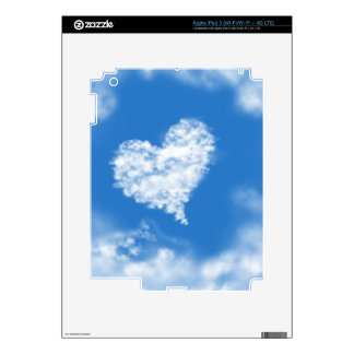 Lovely blue heaven heart shaped sky healing love decals for iPad 3