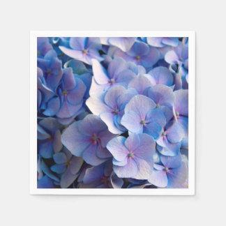 Lovely Blue Hydrangea Blossoms Standard Cocktail Napkin