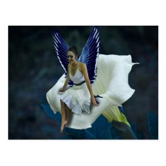 Lovely Blue Moon Fairy Post Card Postcard