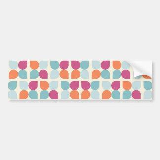 Lovely Blue Purple Peach Orange Leaf Patterns Bumper Stickers