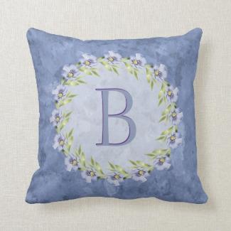 Lovely Blue Wildflower Monogram