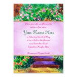 Lovely Blue Wooden Door to Secret Rose Garden 5x7 Paper Invitation Card