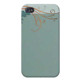 Lovely bluish blossom and colorful leaves iPhone 4/4S cases