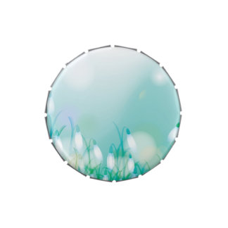 Lovely Bokeh Glowing Flowers Cards, Gifts, Postage Jelly Belly Candy Tin