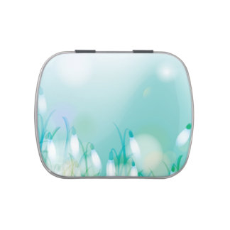 Lovely Bokeh Glowing Flowers Cards, Gifts, Postage Jelly Belly Candy Tins
