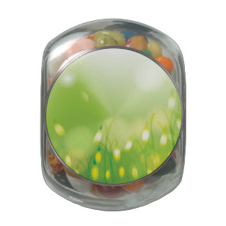 Lovely Bokeh Glowing Flowers Cards, Gifts, Postage Jelly Belly Candy Jar